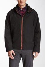 TUMI T-Tech Pack-Away Jacket Outerwear Coat Hooded Raincoat 9T-7000 Black Size M