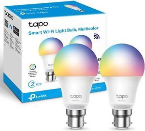 TP-Link Tapo L530B(2-pack) Smart Wi-Fi Light Bulb, Multicolor, B22 8.7W