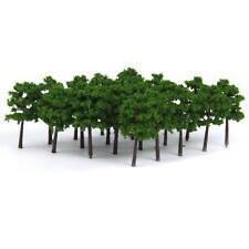40pcs/Set Dark Green Plastic Model Trees Train Railroad Scenery 1:250 Layout