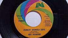 """NEIL DIAMOND - Stones / Crunchy Granola Suite 1971 UNI 7"""" Pop Rock (VG)"""