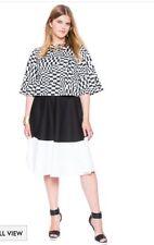 Eloquii Color Block Modi Skirt 24w