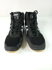 ASICS MATFLEX Youth C545N Black Gray High Top Athletic/Wrestling Shoe Size 4.5.