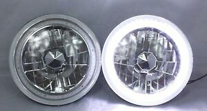 "1975-1980 Chevy C10 C20 c30 7"" Round 6014/6015/6024 White LED SMD Halo Headli..."
