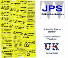 Electrical Labels - WARNING CAUTION DANGER PERIODIC INSPECTION VOLTAGE pm26