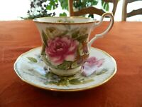Queen's Fine Bone China Rosina China Co. Ltd. Floral Teacup & Saucer         1-2