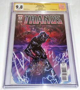 Thanos #15 Fourth Printing CGC SS Signature Autograph CATES Cosmic Ghost Rider
