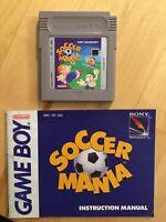 Soccer Mania (Nintendo Game Boy, 1992) Manual Included