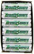 Breath Savers Mints, Spearmint, 0.75-Ounce Rolls (Pack of 24)