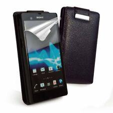E-Volve Flip Tasche Etui Cover Case Schutz Hülle in Schwarz für Sony Xperia Z