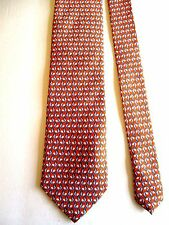 "JOS. A. BANK - ORANGE WITH ROOSTER PRINT - SILK NECK TIE - 59""L 3 5/8""W"