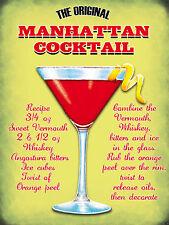 El Manhattan Coctel, Pub, Bar & Restaurantes Original Imán De Nevera