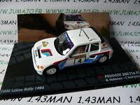 RIT56 voiture 1/43 IXO Altaya Rallye : PEUGEOT 205 T16 EVO 1 Vatanen lacs 1984