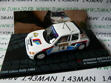 voiture 1/43 IXO Altaya Rallye : PEUGEOT 205 T16 EVO 1 Vatanen lacs 1984