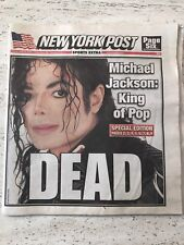 June 26th 2009 New York Post Michael Jackson Death - Farrah Fawcett Death