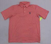 Southern Seam Men's Stripe Kenzley Polo Shirt SV3 Pink Medium NWT