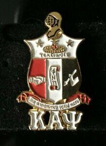Kappa Alpha Psi Fraternity Shield w/ Greek Letters Lapel Pin