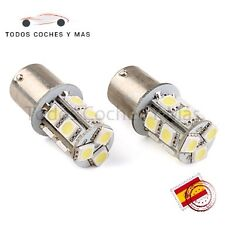 2 X BOMBILLA LED COCHE BA15S 13SMD 5050 1156 P21W INTERMITENTE ANTINIEBLA BLANCO