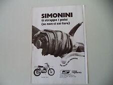 advertising Pubblicità 1975 MOTO SIMONINI LONG RANGE 125