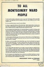 1943 Montgomery Ward Article Ad About Free to Join the Union Presidential Order