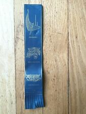 Vintage Leather Osebergfunnene Bookmark - The Oseberg Finds - Ship, Cart, Sleigh