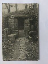 La Hougue Bie Vintage B&W Postcard c1930s The Well