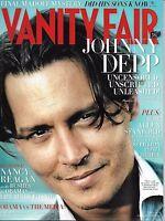 Johnny Depp Vanity Fair Magazine Bernie Madoff Nancy Reagan Barack Obama Media