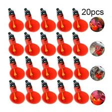 20 Packs Poultry Water Drinking Cups Chicken Hen Plastic Automatic Drinker Quail