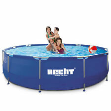 Hecht 3476 BLUESEA Swimmingpool Frame Pool Schwimmbecken Stahlrohr Schwimmbad