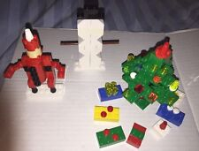 Lego Christmas Decorations Christmas Tree With Gifts Santa And Snowman EUC