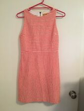 NEW Alice + Olivia Red And White Stripe Peep Hole Dress - Size 8