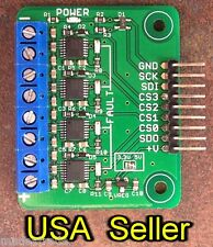 Quad MAX31856 thermocouple breakout board for 5V systems (MAX31855 upgrade)