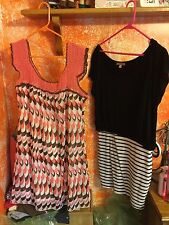 Women's Summer Dresses. Crocheted And Knit. Size Medium. Lot Of 2 Dresses. NWOT