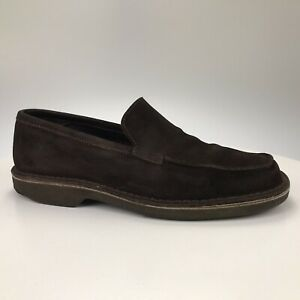 Men's 11.5 D - Banana Republic Brown Suede Loafers Mocs Slip Ons Made in Italy