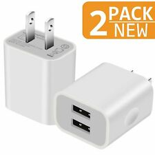 USB Charger, Charging Block, 2.1A Home Travel Double USB A Wall Charger Multi...
