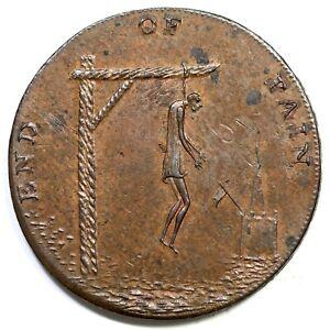 (1790's) End Of Pain Conder Token Half Penny