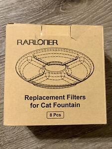 8 Pack Rarloner Cat Fountain Filters Pet Fountain Filters for 1.6L Cat Fountain