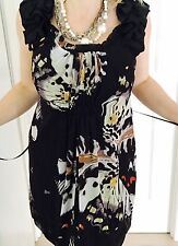 STELLA WOMENS DRESS PRINTED LINED SLEEVELESS WORK PARTY Made In AU  SZ 12