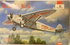 Amodel 1/72 Kalinin K5 Soviet Airliner Aircraft Model Kit 72287