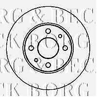 BBD4066 BORG & BECK BRAKE DISC PAIR fits Audi,VW.passat.fits fr 95-