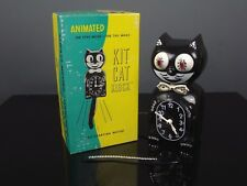KIT CAT KLOCK clock Felix the cat chat + box vintage Made in USA 80's RARE