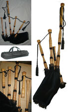 Great Scottish Highland Bagpipe with Free Practice Chanter & Case.