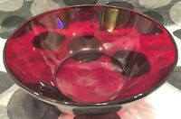 1 Anchor Hocking Royal Ruby 8 & 3/8 inch Round Vegetable Bowl (R4000)
