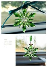 2018 New Green Crystal Glass Snowflake Ornament Charm Pendant  Party Decortion