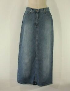 Blue Denim STREET ONE  Zip Long Straight Casual Women's Skirt Size 10 / 36 L 37