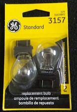 Two(2) GE 3157 Miniature Lamp Bulb 27w 8w Plastic Wedge 12 volt S8 12v Free Ship