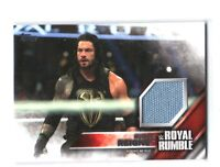 WWE Roman Reigns 2016 Topps Then Now Forever Royal Rumble Mat Relic Card 325/399