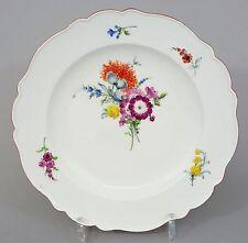 (MT323) Meissen Teller, Bunte Blumenmalerei, Marcolini Periode1774-1814, 1. Wahl