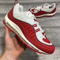 NIKE AIR MAX 98 RED/WHITE TRAINERS SIZE UK8/US9/CM27/EUR42.5 640744-602