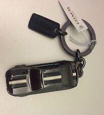 New Coach Metal Race Car Keychain Key Ring Chain FOB Bag Charm NWT