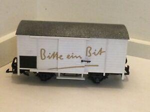 """LGB #4035 Rare Unusual """"Bitte ein Bit"""" Beer Car; Aftermarket by Champex-Linden"""